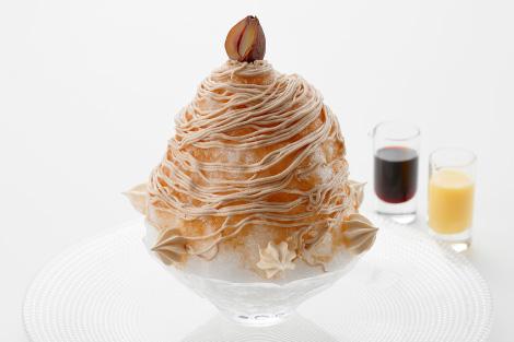 天然氷「雪の菓 モンブランかき氷」