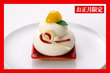おかがみさん[和栗とホワイトチョコレートのケーキ]