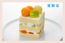 ジューシーメロンのショートケーキ